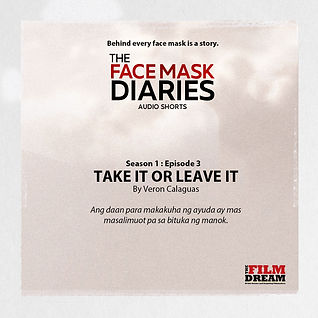 TFD Face Mask Diaries square Take it Or