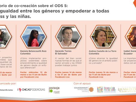 Becas para el Laboratorio de Co-creación sobre proyectos de Igualdad de Género y Empoderamiento ODS5
