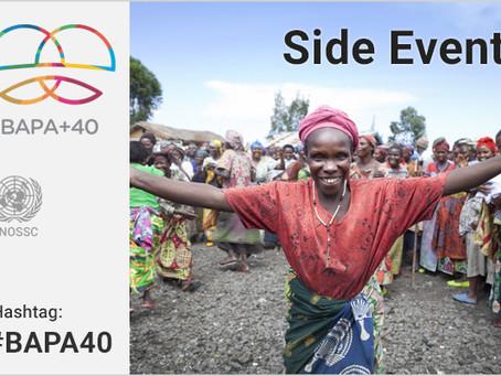 PABA+40 Evento Paralelo: Cooperación Sur-Sur para la paz y el desarrollo