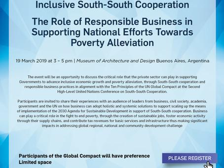 Una Cooperación Sur-Sur Inclusiva: El papel responsable de las empresas