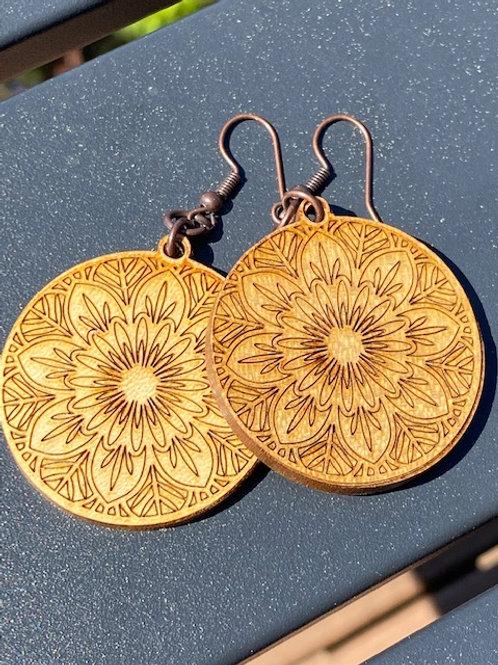 Mandala Circle-Earrings
