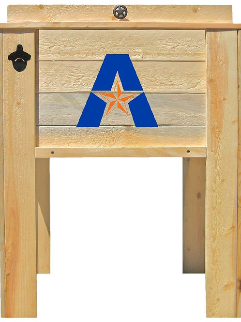 University of Texas at Arlington Wooden Ice Chest