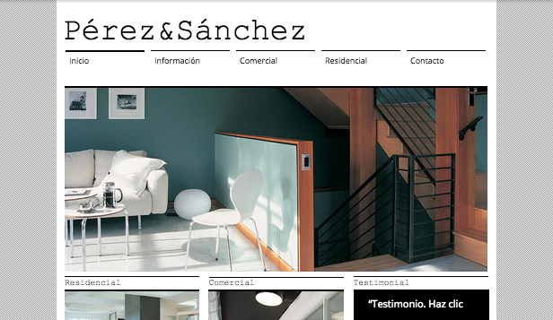 Inmobiliaria website templates – Arquitecto & Co.