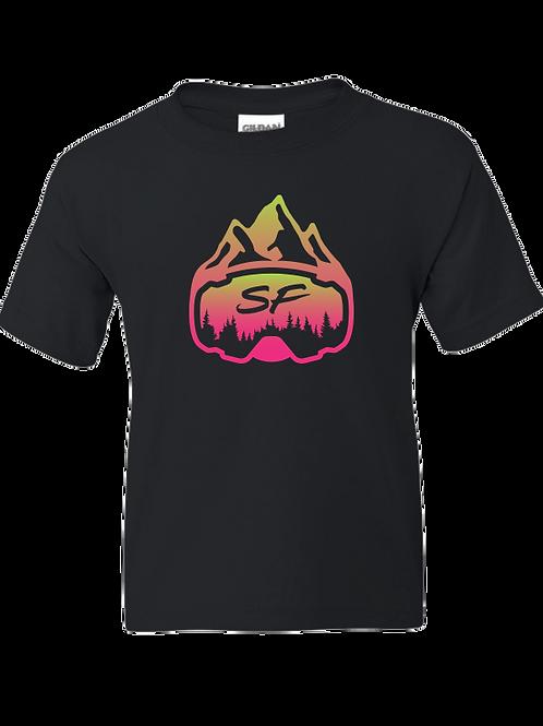 Youth Sledfreak Pink Green Gradient T Shirt
