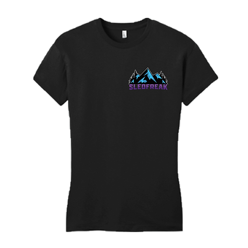 Women's Mountains Black T Shirt
