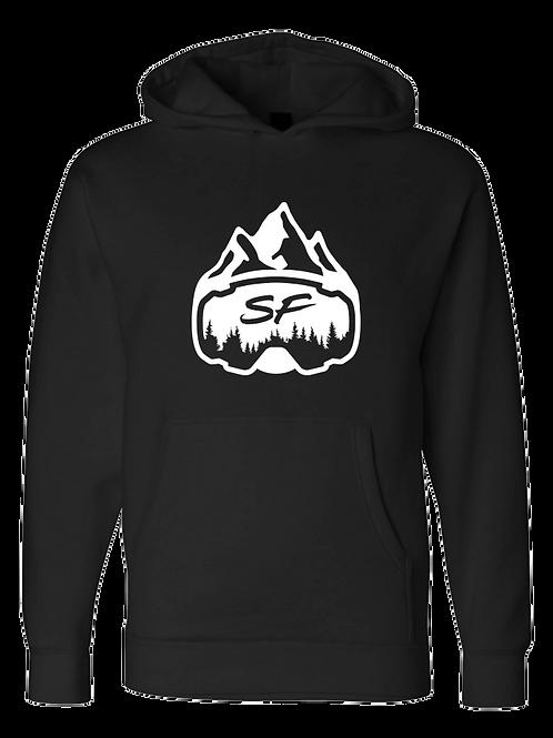Sledfreak White Logo Black Hoodie