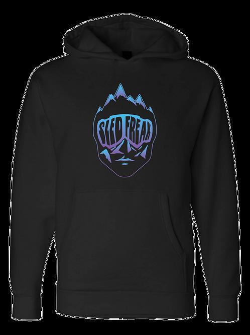 Sledhead Logo Hoodie Full Front Blue Purple Gradient