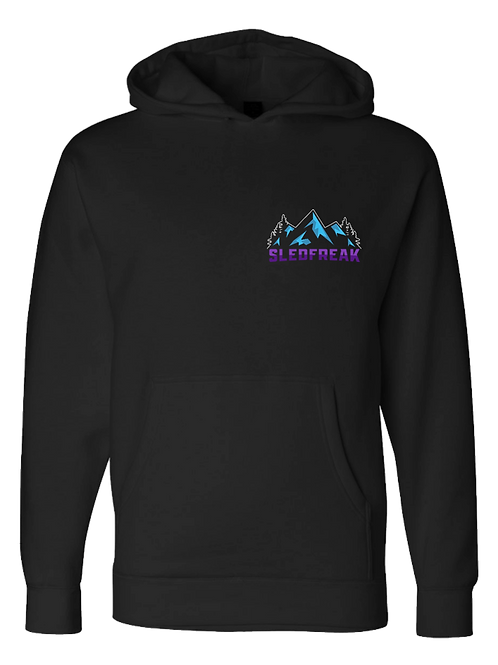 Mountains Logo Hoodie Full Back Front Left
