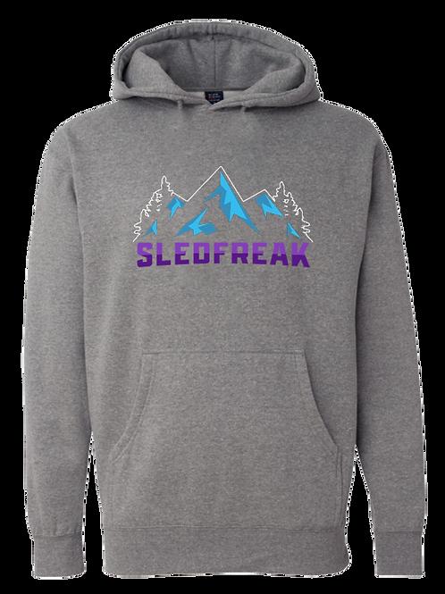 Grey Mountains Logo Hoodie Full Front