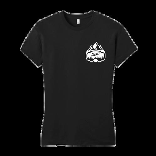Women's Sledfreak Logo Black T Shirt