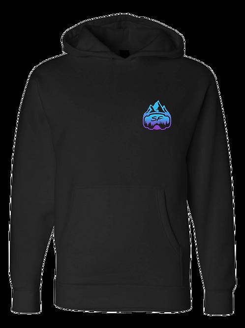 SledFreak Logo Hoodie Full Back Front Left Blue Purple Gradient