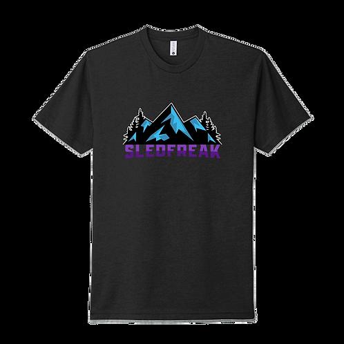 Mountains Black T Shirt