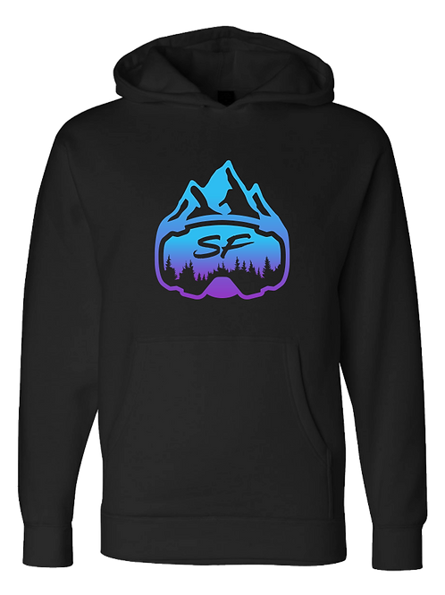 SledFreak Logo Black Hoodie