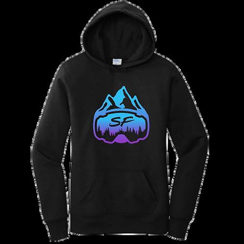 Women's Sledfreak Logo Blue Purple Gradient Hoodie