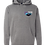 Thumbnail: Grey Badge Logo Hoodie Full Back Front Left