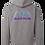 Thumbnail: Grey Mountains Logo Hoodie Full Back Front Left