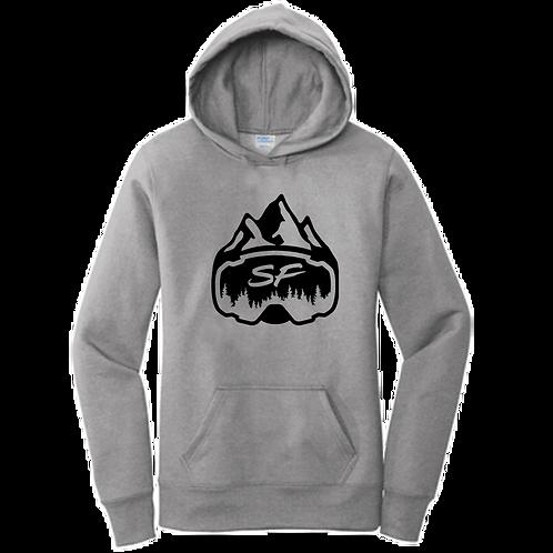 Women's Grey Sledfreak Logo Hoodie