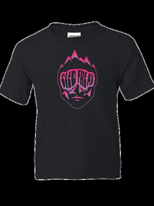 Youth Sledhead Pink Purple Gradient T Shirt