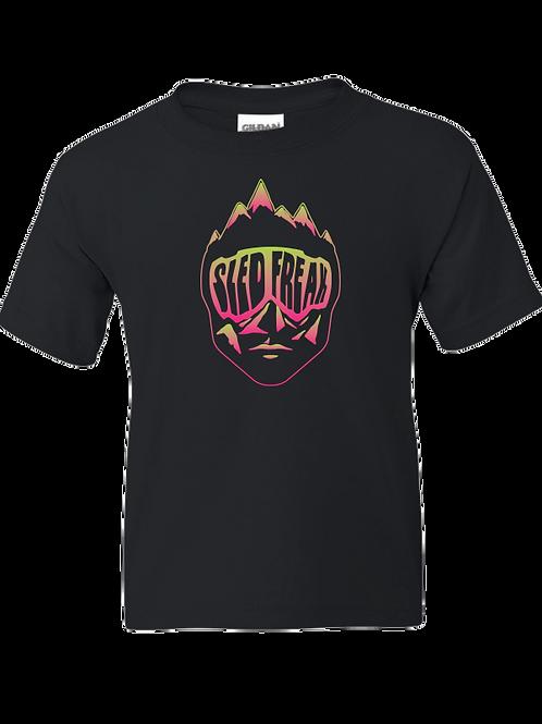 Youth Sledhead Pink Green Gradient T Shirt