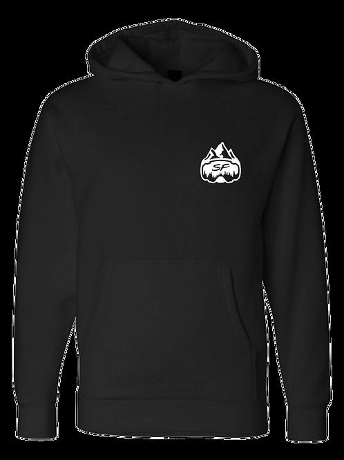 SledFreak Logo Hoodie Full Back Front Left White