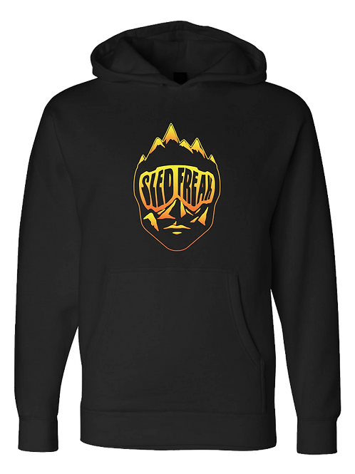 Sledhead Logo Hoodie Full Front Orange Yellow Gradient