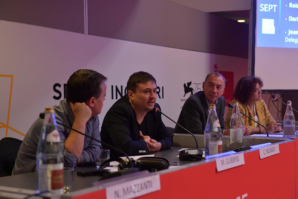 Cristian Mungiu at Eurovod panel discussion in Venice