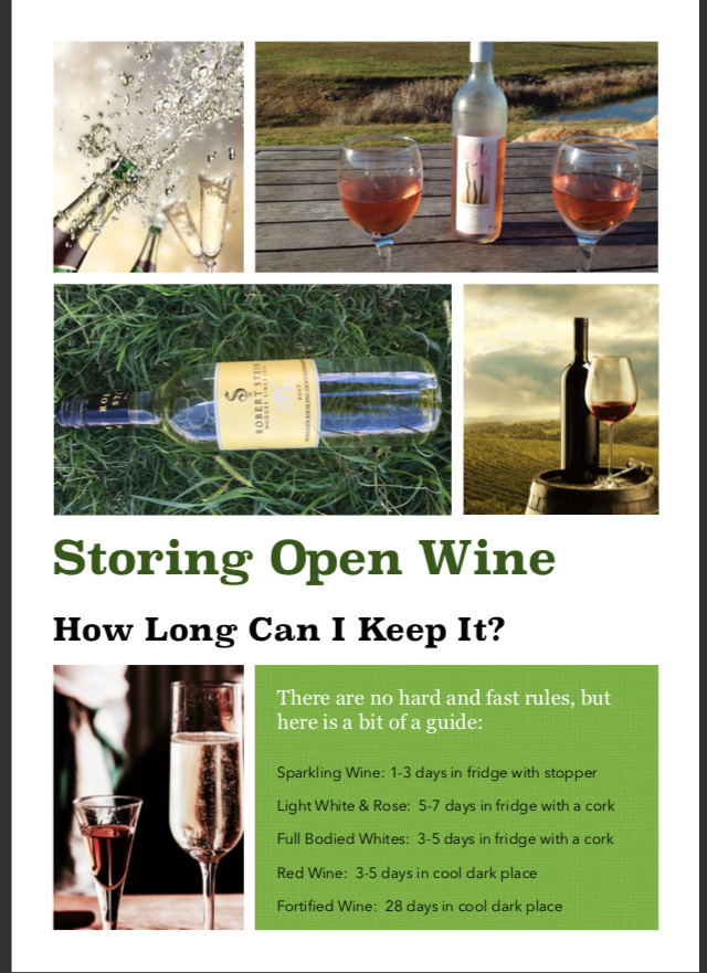 storing open wine
