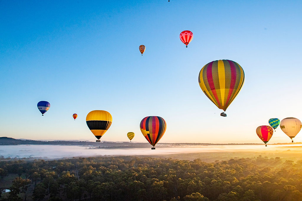 hot air ballooning Mudgee