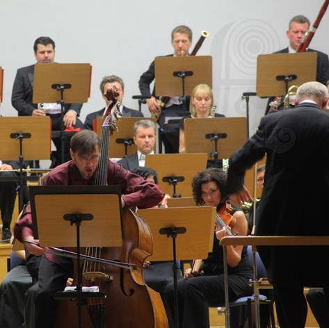 «Musica concertante per violbasso e orchestra» by Witold Szalonek with Zielona Gora Philharmonics