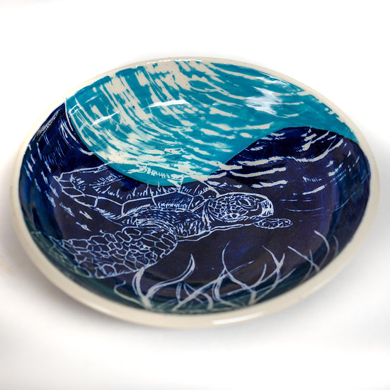 Sea Turtle Porcelain Bowl