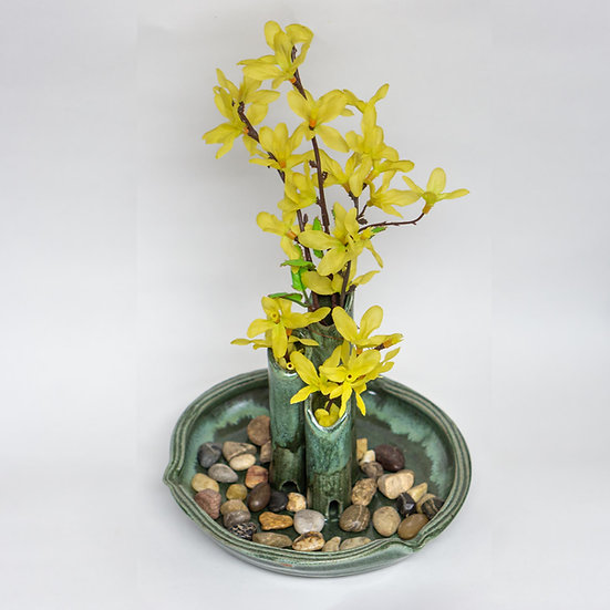 River Rock Garden Vase