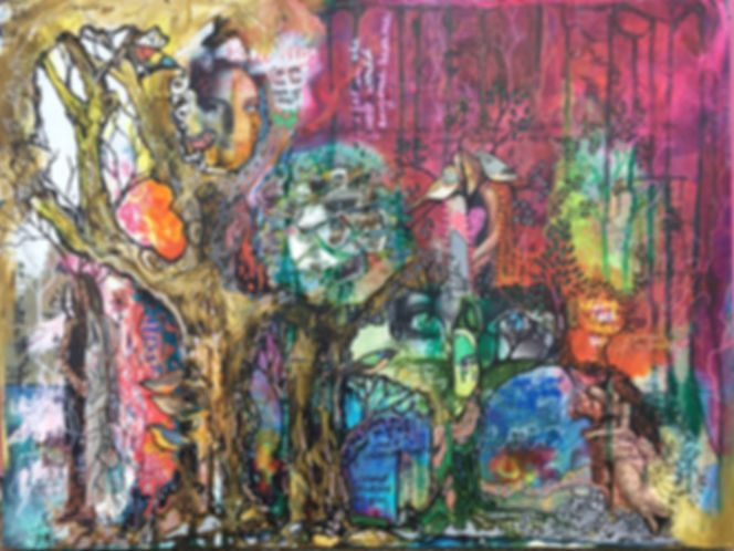 heatherneimanart womanhood sisterhood grief collage art trees