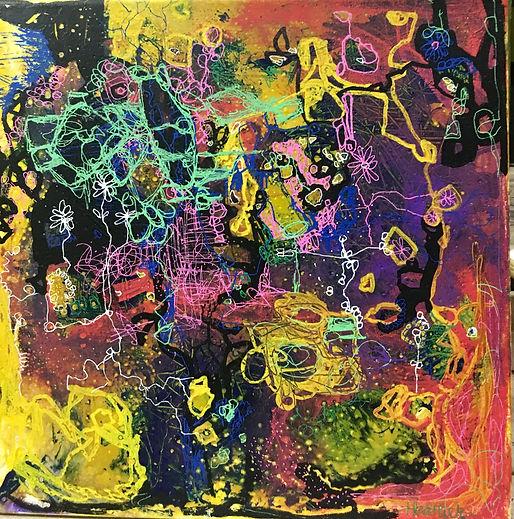 art heatherneimanart abstract canvas yellow