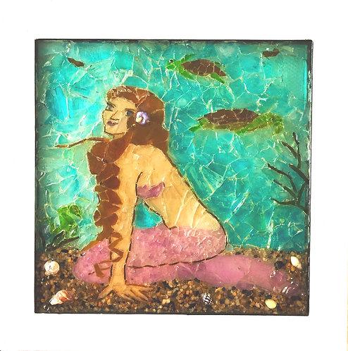 """#14, """"Mermaid Visiting Friends"""""""