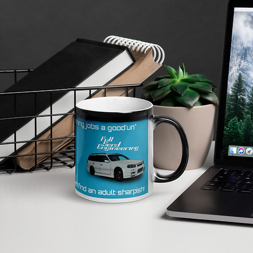 Full send engineering glossy magic mug