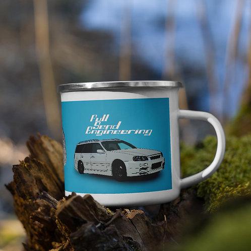 Full send engineering rugged enamel mug