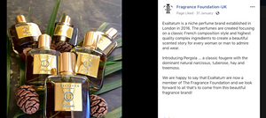 The Fragrance Foundation introduction Exaltatum as a new member.