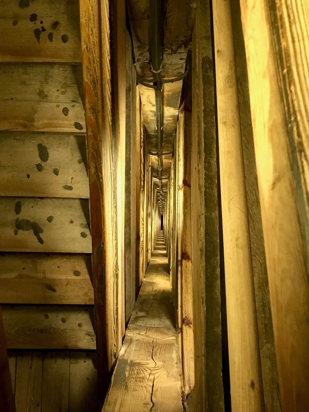 The spiral stairs leading into the Wieliczka Salt Mine