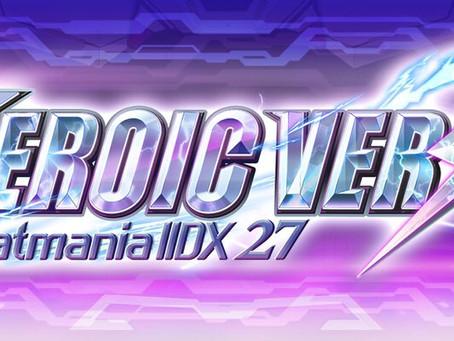 beatmania IIDX 27 HEROIC VERSEに楽曲提供しました