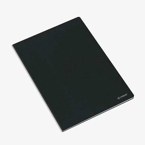 Caderno capa preta - A4