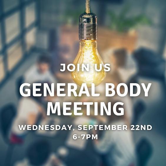 September 2021 General Body Meeting