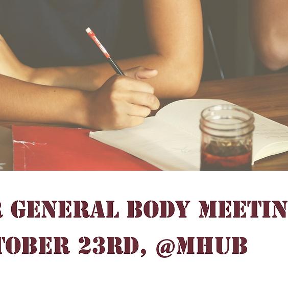 October General Body Meeting