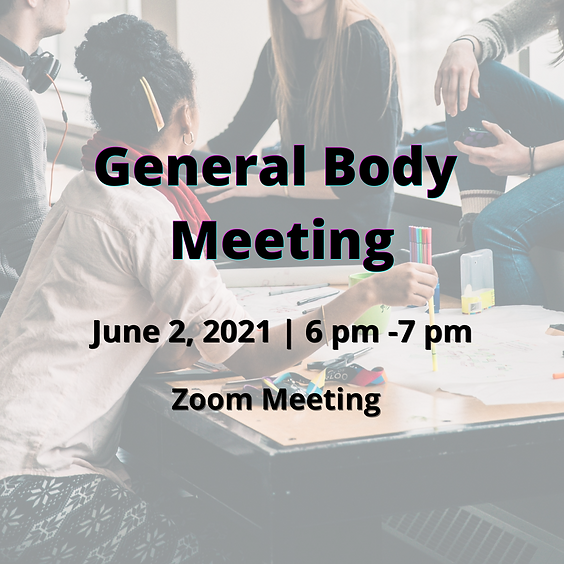 June 2021 General Body Meeting