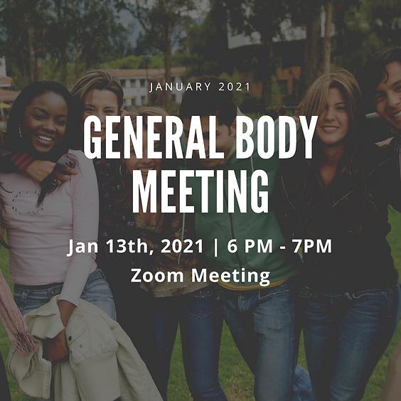 January 2021 General Body Meeting