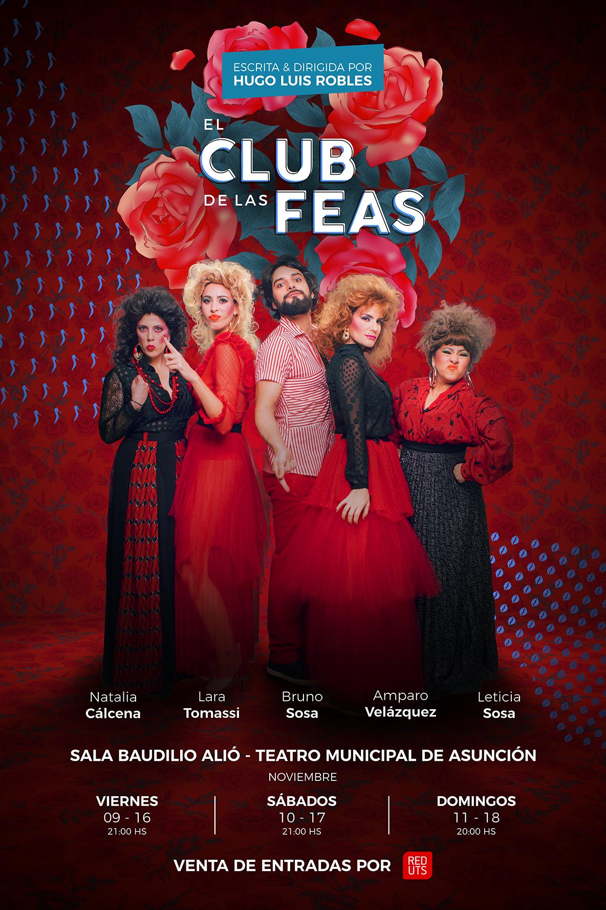 Afiche Institucional el Club de las Feas