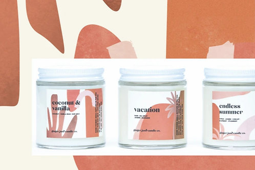 Ginger & June Scented Candles