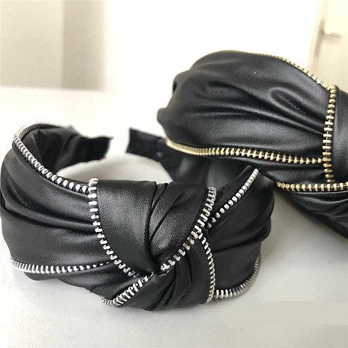 Top Knot Leather Headband
