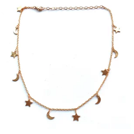 Moon + Star Choker