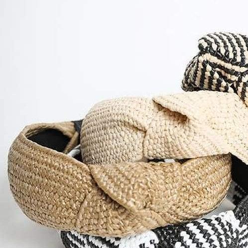 Bohemian Straw Rattan Headband