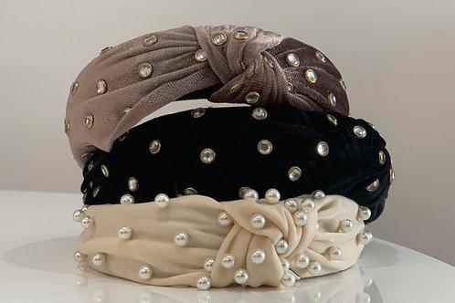 Knotted Jewel Headband